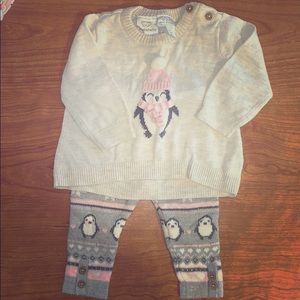 Baby girl sweater outfit